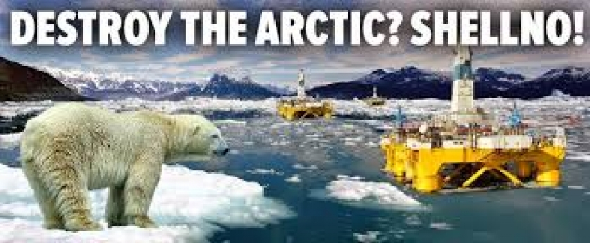 Global Psi Attack on Shell Arctic Drilling.